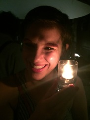 "Being ""so natural"" again, in candlelight"